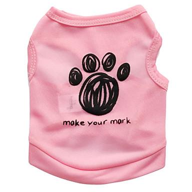 고양이 강아지 티셔츠 강아지 의류 꽃 / 식물 블랙 블루 핑크 테릴렌 코스츔 애완 동물 남성용 여성용 패션