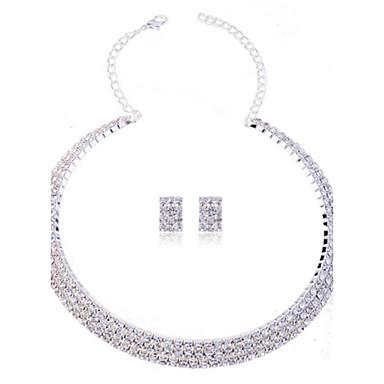 Női Strassz Hamis gyémánt Ékszer szett tartalmaz Naušnice Nyakláncok - Divat Szintetikus drágakövek Strassz Hamis gyémánt Ékszer készlet