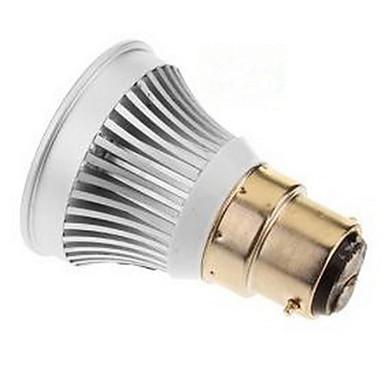 3W E14 GU5.3 (MR16) B22 E26/E27 LED-spotlampen MR16 1 leds COB Warm wit Koel wit 250-300lm 6000-6500K DC 12V