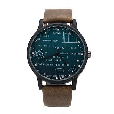 남성용 손목 시계 석영 뜨거운 판매 가죽 밴드 워드 스타일 시계 블랙 브라운 그린