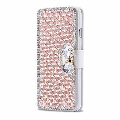 아이폰 5 / 5S 안전 버클 휴대 전화 블링 케이스와 고급스러운 빛나는 다이아몬드 전체 PU 가죽 케이스 커버