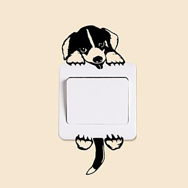 Zwierzęta Moda Wypoczynek Naklejki Naklejki ścienne lotnicze Dekoracyjne naklejki ścienne Lekkie Naklejki przełączników, Papierowy