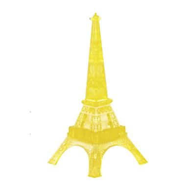 Építőkockák Fejtörő Kristály építőjátékok Torony Népszerű épület Eiffel-torony 3D DIY Kristály Vas ABS Karácsony Gyermek Ajándék