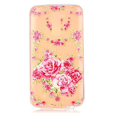 Kompatibilitás LG tok tokok Átlátszó Minta Hátlap Case Virág Puha Hőre lágyuló poliuretán mert LG LG K10 LG K7