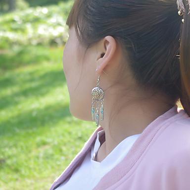 Beszúrós fülbevalók minimalista stílusú Folk stílus Európai Ötvözet Toll Ezüst Ékszerek Mert Parti Napi Hétköznapi 1 pár
