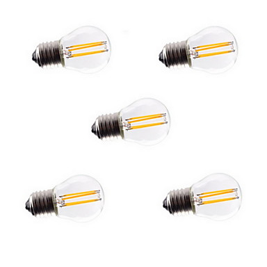 E26/E27 LED-gloeilampen A60 (A19) 4 Krachtige LED 400LM lm Warm wit Koel wit Decoratief AC 220-240 V 5 stuks