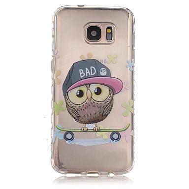 Mert Samsung Galaxy S7 Edge Átlátszó / Minta Case Hátlap Case Bagoly TPU Samsung S7 edge / S7