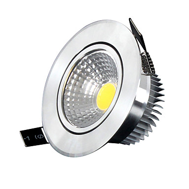 Φωτιστικό Οροφής Φωτιστικό Πάνελ Χωνευτή εγκατάσταση 5 leds COB Με ροοστάτη Ψυχρό Λευκό 400-500lm 6000-6500K AC 220-240V