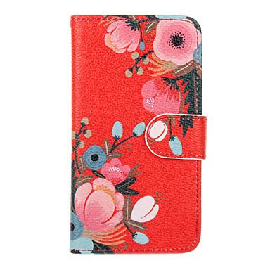 Mert Samsung Galaxy tok Kártyatartó / Pénztárca / Állvánnyal / Flip Case Teljes védelem Case Virág Műbőr Samsung J5 (2016) / J1 (2016)