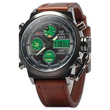 92f629bc0 رجال ساعة عسكرية ساعة المعصم كوارتز كوارتز ياباني LED LCD رزنامه مقاوم  للماء إنذار مضيء ساعة