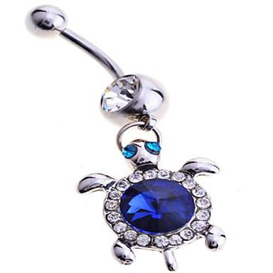여성 바디 쥬얼리 Navel & Bell Button Rings 스탈링 실버 모조 다이아몬드 유니크 디자인 패션 보석류 블루 보석류 일상 캐쥬얼 1PC