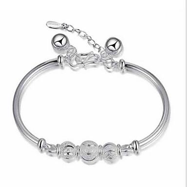 Mulheres Pulseiras com Pendentes Bracelete Prata de Lei Jóias Presentes de Natal Casamento Festa Diário Casual Jóias de fantasia
