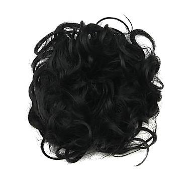 Szintetikus haj paróka Klasszikus Göndör Fejtetőre fésült frizura Jó minőség Réteges frizura Jelmez paróka Rövid Napi