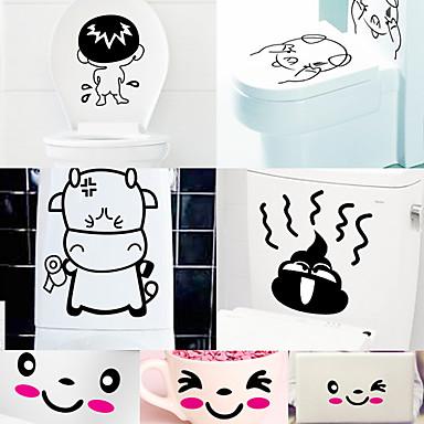 추상적인 정물 패션 만화 Leisure 벽 스티커 플레인 월스티커 화장실 스티커, 비닐 홈 장식 벽 데칼 벽