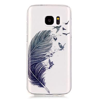 용 Samsung Galaxy S7 Edge 투명 / 패턴 케이스 뒷면 커버 케이스 깃털 소프트 TPU S7 edge / S7 / S6 edge / S6 / S5