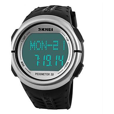 SKMEI 남성용 스포츠 시계 디지털 시계 디지털 알람 달력 크로노그래프 심장 박동수 모니터 방수 만보기 스톱워치 LCD 야광의 고무 밴드 사치 블랙 그린