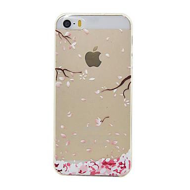 Mert iPhone 5 tok Átlátszó / Minta Case Hátlap Case Virág Puha TPU Apple iPhone SE/5s/5