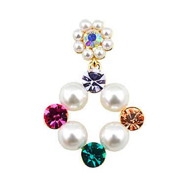 Divat luxus ékszer utánzat Diamond Ötvözet Ezüst Aranyozott Ékszerek Mert Esküvő Parti Napi Hétköznapi 1 pár