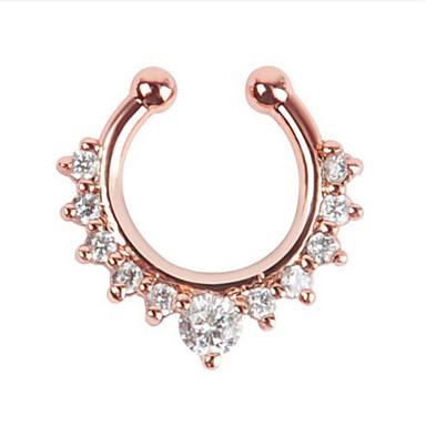 Χαμηλού Κόστους Κοσμήματα σώματος-Γυναικεία Κοσμήματα Σώματος Μύτη Δαχτυλίδι / μύτη Stud / μύτη Piercing / μύτη Piercing Ασημί / Χρυσαφί / Χρυσό Τριανταφυλλί Μποέμ Ανοξείδωτο Ατσάλι Κοστούμια Κοσμήματα Για
