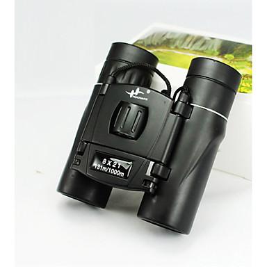 Huaxiang 8X21 mm 쌍안경 고해상도 소형 일반적 사용 탐조(들새 관찰) BAK7 멀티 코팅 131m/ 1000m 중심 초점