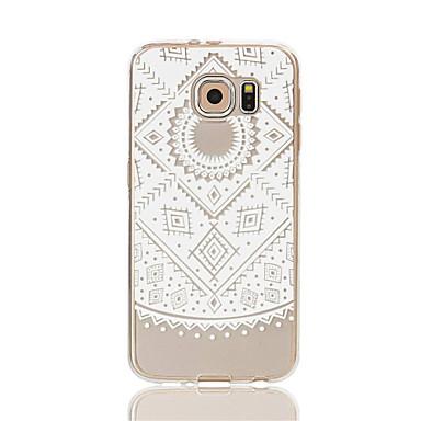 Mert Samsung Galaxy S7 Edge Átlátszó / Minta Case Hátlap Case Csipke dizájn Puha TPU S7 edge / S7 / S6 edge / S6