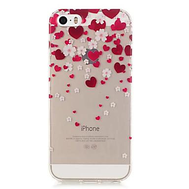 Case Kompatibilitás iPhone 5 tok Átlátszó Hátlap Szív Puha TPU mert iPhone SE/5s iPhone 5