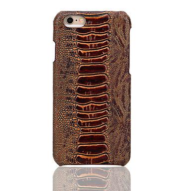 용 아이폰6케이스 / 아이폰6플러스 케이스 엠보싱 텍스쳐 케이스 뒷면 커버 케이스 기하학 패턴 하드 천연 가죽 Apple iPhone 6s Plus/6 Plus / iPhone 6s/6