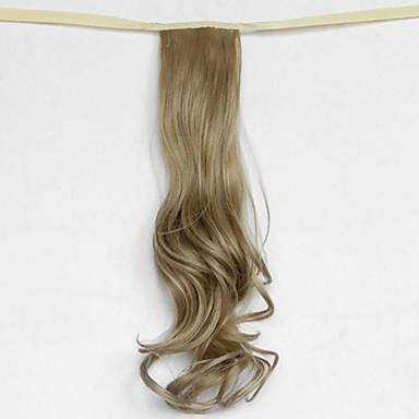 hullám világos arany szőke szintetikus kötszer típusát haj paróka lófarok (színes 16)