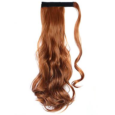 갈색 45cm 합성 고온 와이어 곱슬 말꼬리 컬러 30J 가발