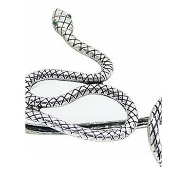 Mujer Brazaletes Pulseras de la vendimia Plata de ley Diseño Único Moda Joyas Serpiente Plata Joyas 1 pieza
