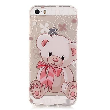 Case Kompatibilitás iPhone 5 tok Ultra-vékeny Átlátszó Minta Hátlap Állat Puha TPU mert iPhone SE/5s iPhone 5