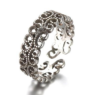 Férfi Női Midi gyűrűk Karikagyűrűk Divat Állítható Ezüst Ékszerek Kompatibilitás Napi Hétköznapi