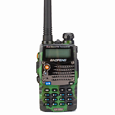 BAOFENG UV-5RA Handheld / Digital Voice Prompt / Dual Band / Dual Display 1.5KM-3KM 1.5KM-3KM 128 1800 mAh 5 W Walkie Talkie Two Way Radio / 136-174MHz / 400-520MHz / FM Radio / Dual Standby