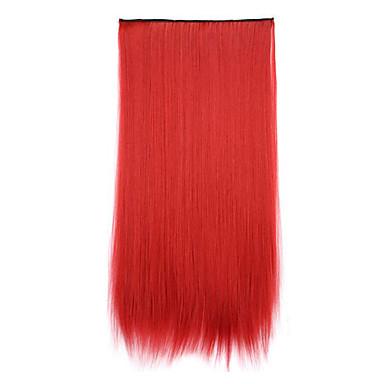 piros hossza 70cm szintetikus fogadó chip göndör haját egyenes haj tablettát (színes 130m)