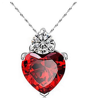Női Nyaklánc medálok Heart Shape Cirkonium Kocka cirkónia Szerelem Szív Divat jelmez ékszerek Ékszerek Kompatibilitás Napi Hétköznapi