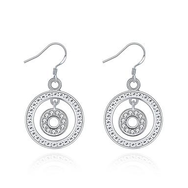 Pentru femei Fete Cercei Picătură Cristal Design Circular Argilă Circle Shape Bijuterii Pentru Nuntă Petrecere Zilnic Casual