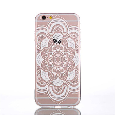 Mert iPhone 6 tok / iPhone 6 Plus tok Átlátszó / Minta Case Hátlap Case Mandala Puha TPU iPhone 6s Plus/6 Plus / iPhone 6s/6