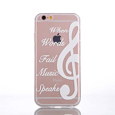 Case Kompatibilitás iPhone 6 iPhone 6 Plus Átlátszó Minta Hátlap Szó / bölcselet Puha TPU mert iPhone 6s Plus iPhone 6 Plus iPhone 6s