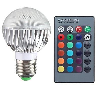 E26/E27 LED 글로브 전구 A50 1 LED가 고성능 LED 리모컨 작동 RGB 100-200lm 2000-3500K AC 85-265V