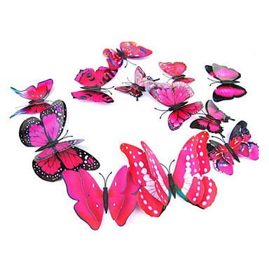 Dieren Romantiek 3D Muurstickers 3D Muurstickers Decoratieve Muurstickers Koelkaststickers,Vinyl Materiaal Verwijderbaar Verstelbaar