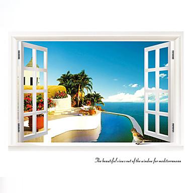 건축 / 보태니컬 / 정물화 / 패션 / 풍경 / 레져 벽 스티커 플레인 월스티커,PVC 90*60*0.1