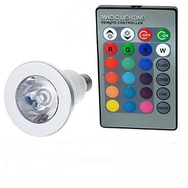 E14 LED gömbbúrás izzók A50 1 led Nagyteljesítményű LED Távvezérlésű RGB 100-200lm 2000-3500K AC 85-265V