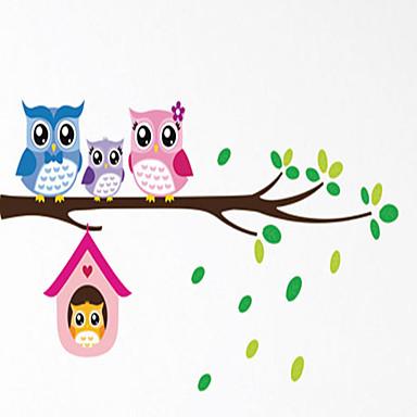 동물 로맨스 모양 3D 벽 스티커 플레인 월스티커 데코레이티브 월 스티커, PVC 홈 장식 벽 데칼 벽