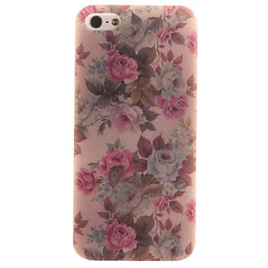 Mert iPhone 5 tok tokok Minta Hátlap Case Virág Puha TPU mert Apple iPhone SE/5s iPhone 5