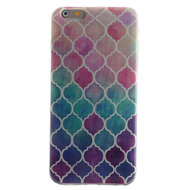 Case Kompatibilitás iPhone 6 iPhone 6 Plus IMD Minta Hátlap Mértani formák Puha TPU mert iPhone 6s Plus iPhone 6 Plus iPhone 6s iPhone 6
