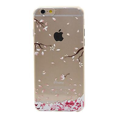 Case Kompatibilitás iPhone 6s Plus/6 Plus iPhone 6s/6 Apple iPhone 6 iPhone 6 Plus Átlátszó Minta Hátlap Virág Puha TPU mert iPhone 6s