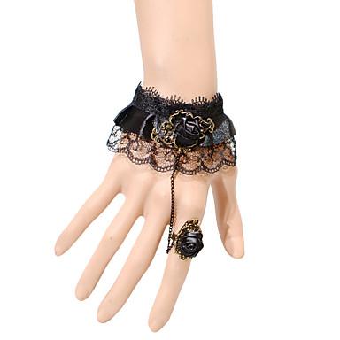 Női Gyűrű karkötők Divat Állítható Csipke Ékszerek Parti Napi Hétköznapi Jelmez ékszerek