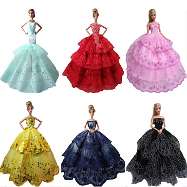 Parti / Gece Elbiseler İçin Barbie Bebek Polyester Elbise İçin Kız Oyuncak bebek