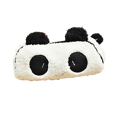 güzel siyah ve beyaz panda kumaş çok amaçlı cüzdan (1 adet)