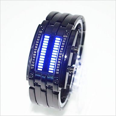 Χαμηλού Κόστους Ανδρικά ρολόγια-Ανδρικά Γυναικεία Για Ζευγάρια Ρολόι Καρπού Ψηφιακή Μαύρο / Ασημί 30 m Ανθεκτικό στο Νερό Δημιουργικό LED Ψηφιακό Μοντέρνα Μοναδικό Watch Creative - Ασημί Μαύρο / Κόκκινο Μαύρο και Μπλε / Ενας χρόνος